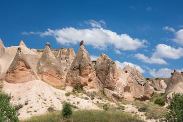 Stone formations in Cappadocia, Turkey