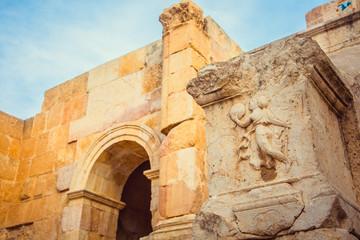 Ancient Roman ruins in Jerash, Jordan