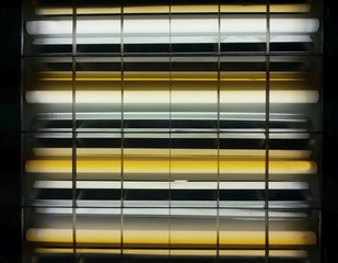 fluorescent lamp close-up at the office