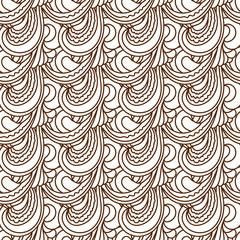 Zentangle wavy seamless pattern