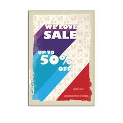 Vintage sale poster, flyer