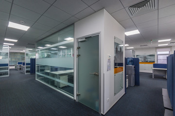 Modern Open Office with Cubicle