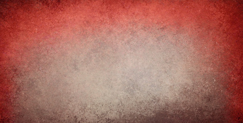 old stained brown and red background with dirty grunge textured borders and elegant rustic vintage style design with light center and colorful top grungy border
