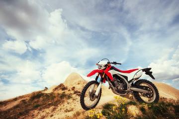 Motorbike. bike outdoors on background.