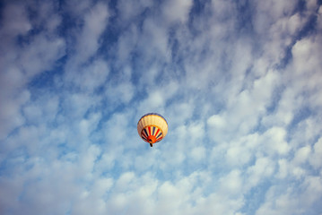 colorful balloon on the blue sky. Beauty world.