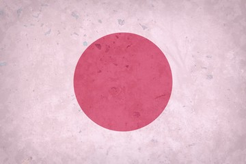Grunge Japan flag  on concrete