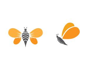 Bee logo template vector icon