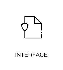 Interface flat icon