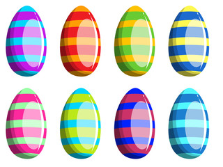 Decorated Easter egg collection isolated