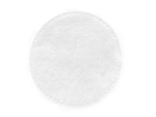 Round cotton cosmetic pad