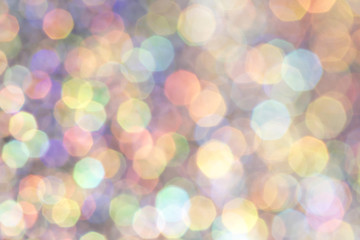 Beautiful Bubble Bokeh Holographic Background