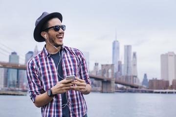 Listening music in New York