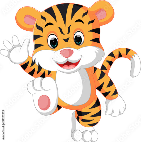 Quot Cute Tiger Cartoon Quot Stock Image And Royalty Free Vector