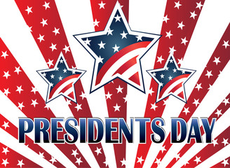 Presidents day symbol background render template vector