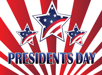 Presidents day template vector background
