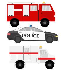 Emergency car color set