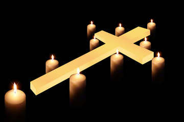 cross and burning candle 4