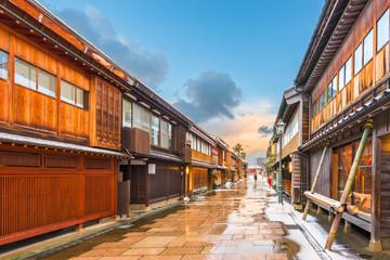 Nishi Chaya District in Kanazawa Japan