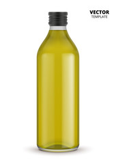 Olive oil bottle vector isolated