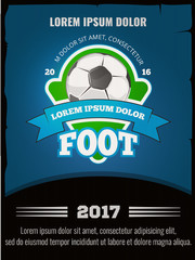 Football, soccer vector poster template