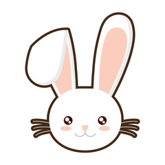 easter bunny face bunny whiskers vector illustration eps 10