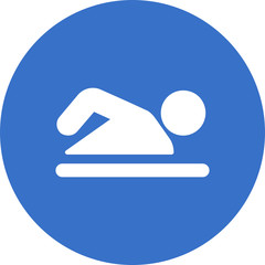 swimming person icon