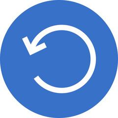 rotate left circular arrow icon