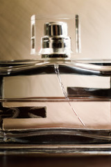 men's perfume bottle closeup