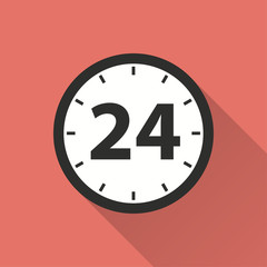 24 hour service vector icon