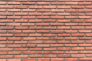 Wall Mural - Old red brick wall pattern in horizontal