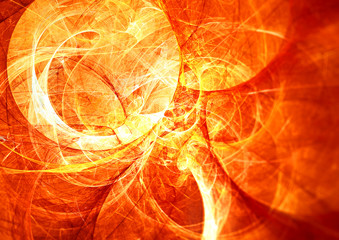 Solar energy. Abstract glowing futuristic blurred background with lighting effect for creative design. Shiny bright color image for wallpaper desktop, poster, cover booklet, flyer. Fractal art