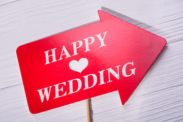 Photo booth for happy wedding