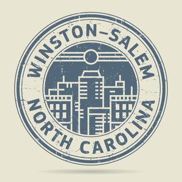 Grunge rubber stamp or label text Winston-Salem, North Carolina