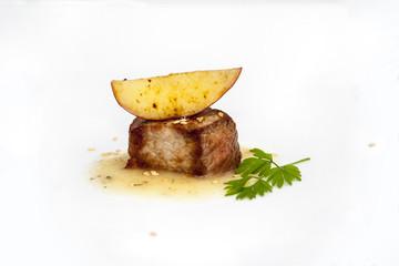 tapa de solomillo de cerdo con manzana