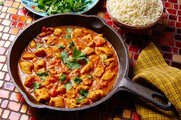 Chicken curry indian recipe basmati rice