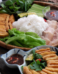 Vietnamese food, bun dau mam tom