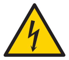Yellow Shock Sign