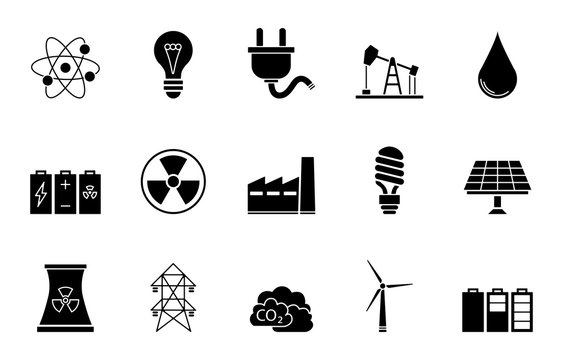 Energie Iconset - Schwarz
