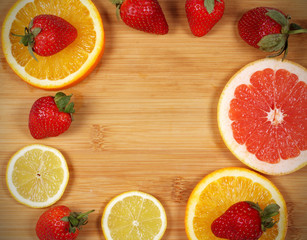 фон текстура апельсин грейпфрут клубника есть место для надписи