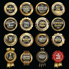 Set of Luxury Sales Quality Badges.