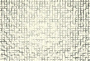 White abstract image of cubes background. 3d render