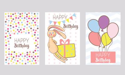 Set of 3 Birthday backgrounds