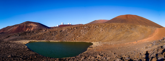 Lake Waiau near the summit of Mauna Kea, Big Island, Hawaii