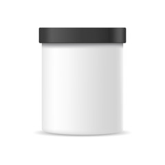 Plastic container mock up