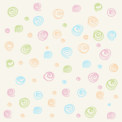 Colorful Seamless pattern. Casual polka dot texture. Stylish doodle