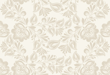 Vintage floral seamless pattern. . Seamless texture with flowers. Endless floral pattern.
