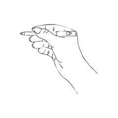vector hand with cosmetic pencil