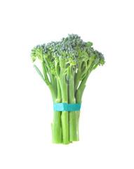 Baby broccoli on white background