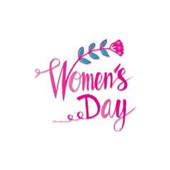 Hand lettering Women's Day.