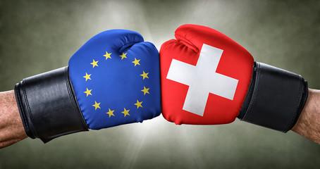 Boxkampf - Europäische Union gegen Schweiz